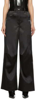 Off-White Black Duchesse Overiszed Tomboy Trousers