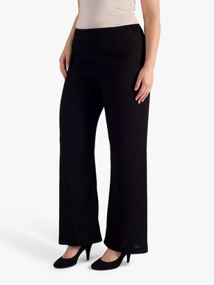 Chesca chesca Textured Crinkle Trousers, Black