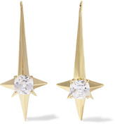Noir Naos gold-tone crystal earrings