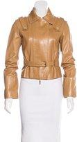 Celine Leather Belted Jacket