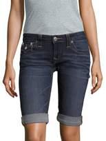 True Religion Roll-Up Denim Shorts
