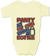 BANG TIDY CLOTHING Baby Grow Party At My Crib... Clothing 0-3 Months