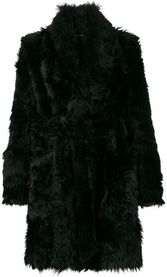 Dolce & Gabbana wrap fur coat