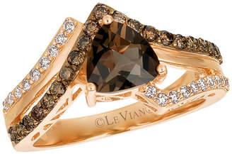 LeVian CORP LIMITED QUANTITIES Le Vian Grand Sample Sale Chocolate Quartz, Chocolate Diamonds, & Vanilla Diamonds Ring set in 14K Strawberry Gold