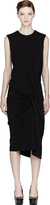 Lanvin Black Side-Gathered Dress