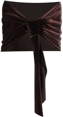 Le Petite Robe Di Chiara Boni Eva velvet scarf