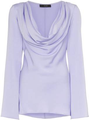 Ellery Arshile Cowl Neck and Fluted Sleeve Top