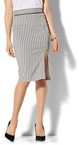 New York & Co. 7th Avenue - Front Slit Pencil Skirt - Modern - Stripe