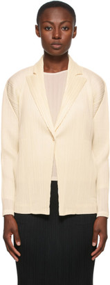 Pleats Please Issey Miyake Off-White Monthly Colors September Blazer