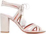 Santoni tassle detail sandals - women - Suede/Leather - 36.5
