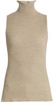 The Row Brianna ribbed-knit wool sleeveless sweater