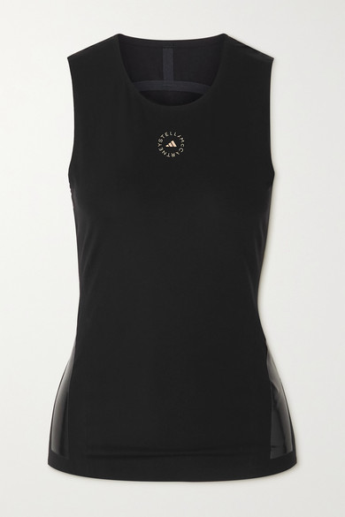 Thumbnail for your product : adidas by Stella McCartney Support Core Printed Recycled Stretch Tank - Black