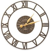 Whitehall Products Sunface Floating Ring Indoor/Outdoor Wall Clock in French Bronze