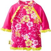 BaBy BanZ Baby-Girls Infant Long Sleeve UV Rash Top Sun Blossom Pattern