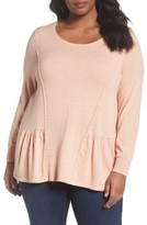 Sejour Plus Size Women's Peplum Sweater