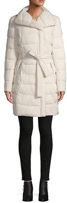 Tahari Belted Puffer Coat