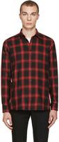 Saint Laurent Black & Red Check Shirt