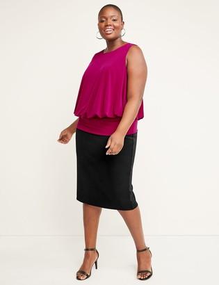 Lane Bryant Scuba Midi Pencil Skirt