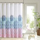 Jessica Printed Shower Curtain and Hook Set - Multi