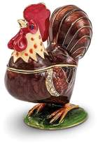 Jere Collections Bejeweled Pewter Enamel Rooster Trinket Box