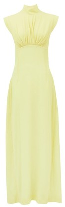 Emilia Wickstead Everly Gathered Seersucker Dress - Light Yellow