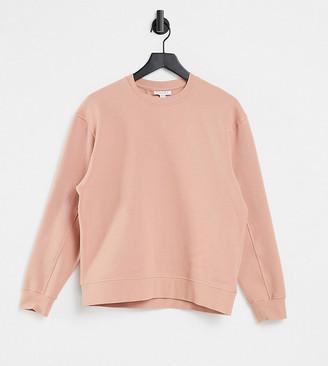 Topshop Petite sweatshirt co-ord in rose