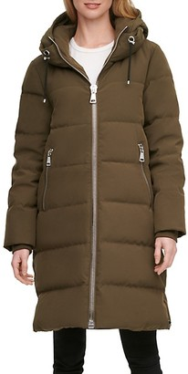 DKNY Down-Filled Long Puffer Coat