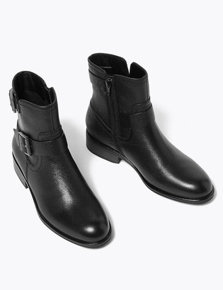 Marks and Spencer Leather Biker Boots