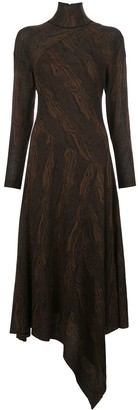 Proenza Schouler Woodgrain Jacquard Knitted Dress