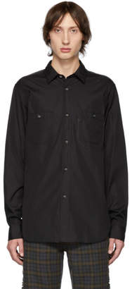 Junya Watanabe Black and Grey Panelled Shirt
