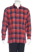 Raf Simons 2016 Embroidered Plaid Shirt w/ Tags