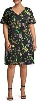 ABS by Allen Schwartz Plus Floral-Print Shift Dress