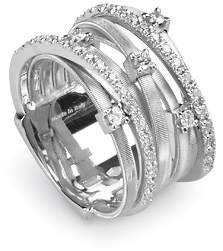 """Marco Bicego Goa"""" 18K White Gold and Diamond Ring, 0.4 ct."""