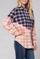Honey Punch Ombre Plaid Shirt