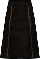 Vanessa Bruno Falga suede A-line skirt
