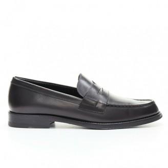Saint Laurent Black Leather Flats