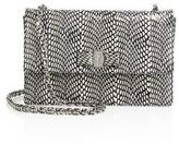Salvatore Ferragamo Vara Ginny Medium Snakeskin Shoulder Bag