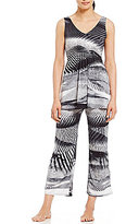 N by Natori Abstract Slinky Jersey Pajamas