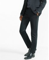 Express skinny innovator cotton sateen black suit pant