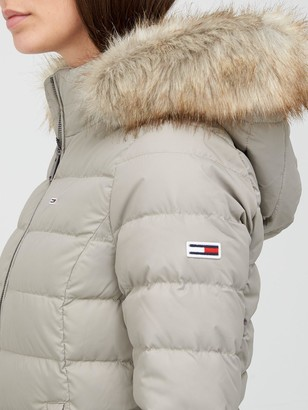 Tommy Jeans Basic Hooded Down Jacket - Grey