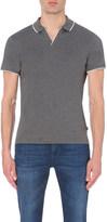 HUGO BOSS Contrast-trim cotton-piqué polo shirt
