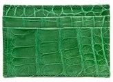 Neiman Marcus Alligator Card Case, Green