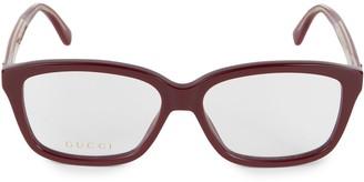 Gucci Core 55MM Square Optical Glasses