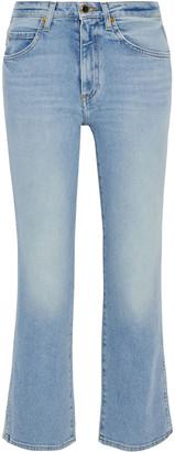KHAITE Vivian Faded High-rise Kick-flare Jeans