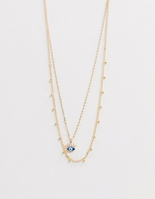 Aldo Lawick layering necklace in gold