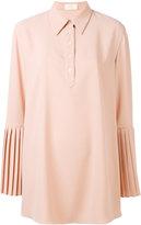 Sara Battaglia pleated sleeve shirt