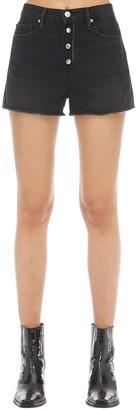 Frame Le Vintage Raw Denim Shorts
