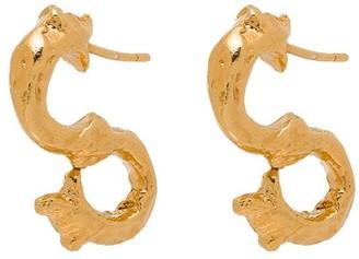 Alighieri 24kt gold-plated Parola Ornata earrings