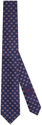 Gucci GG rhombus jacquard silk tie