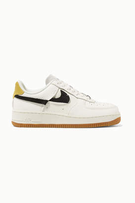 Nike Air Force 1 '07 Lxx Suede-trimmed Textured-leather Sneakers - Ivory